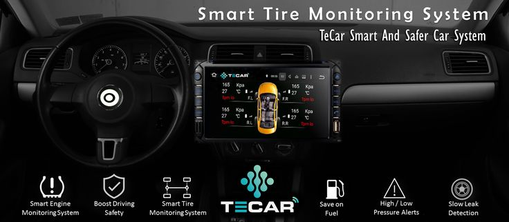View individual tire pressures (as PSI/kPa/Bar) and temperatures (°F/°C) directly on your Car HeadUnit.