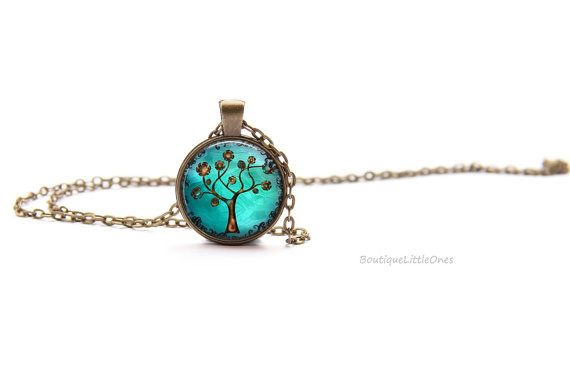 Copper Tree Of Life Image Pendant Necklace by BoutiqueLittleOnes