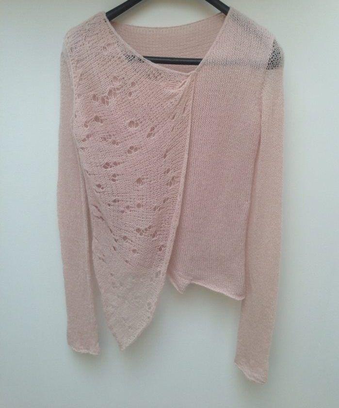 Light pink layered cashmere sweater