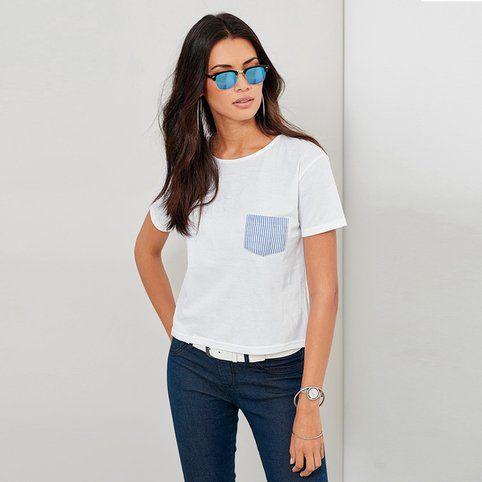 Tee-shirt femme Exclusivité 3SUISSES - Blanc- Vue 1