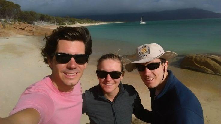 Hannes, Bozena and Greg in Tasmania
