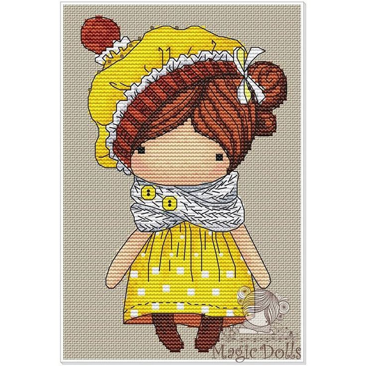 #mika__mila_katya #crossstitch #cross #cross_stitch #stitch #stitches #вышивка #вышивкакрестом #схемавышивки #magic__dolls @magic__dolls Lemon/Лимончик 59*96 stitch, DMC 19 color, 3 blends, 1 color beads Cross stitch, backstitch, french knot