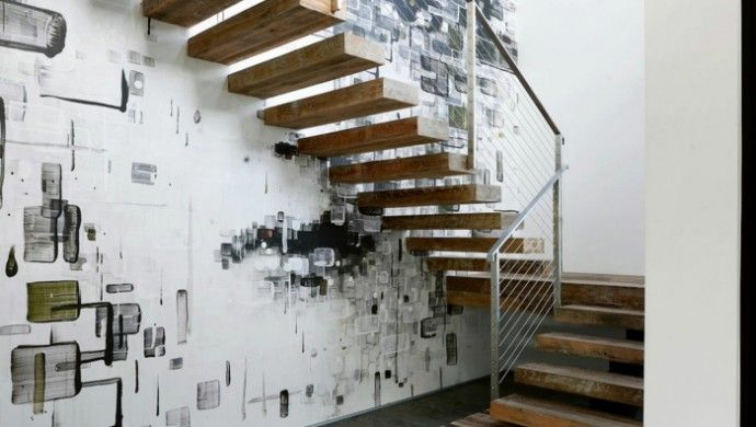 Treppenhaus Wandgestaltung einrichtungsideen beleuchtung treppenhaus wandgestaltung treppenhaus