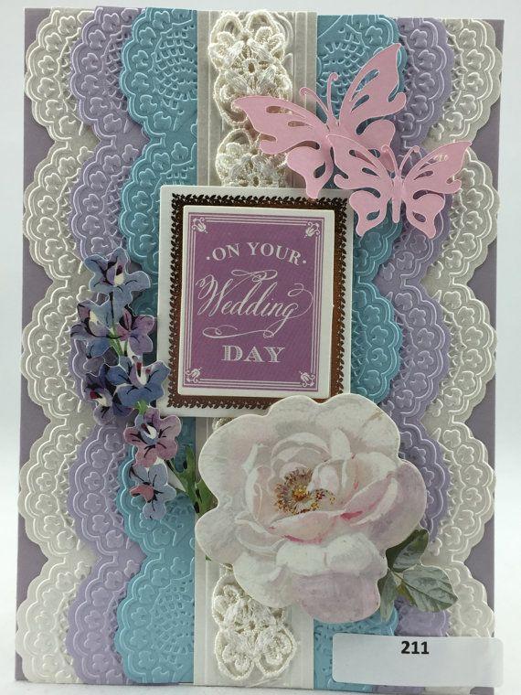 Handmade Greeting Card Wedding Bridal Anna by NineteenThings