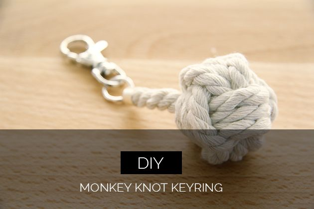 Learn how to make this Monkey Knot Keyring - cute little trinket for yarn lovers and non crafty people alike!