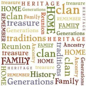 Family Tree Vellum Words Scrapbooking Paper