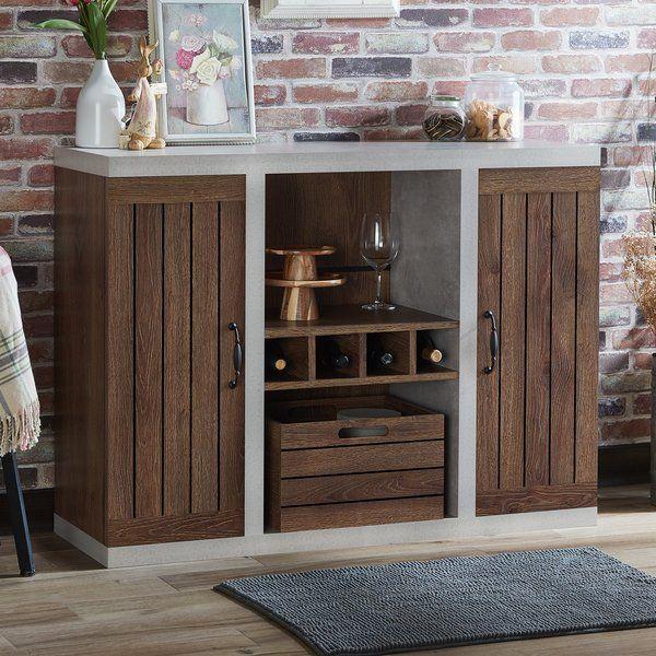 Heffernan Sideboard Built In Wine Rack Sideboard Adjustable Shelving