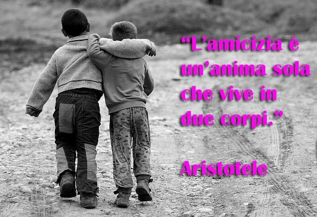 L'amicizia è un anima sola che vive in due corpi