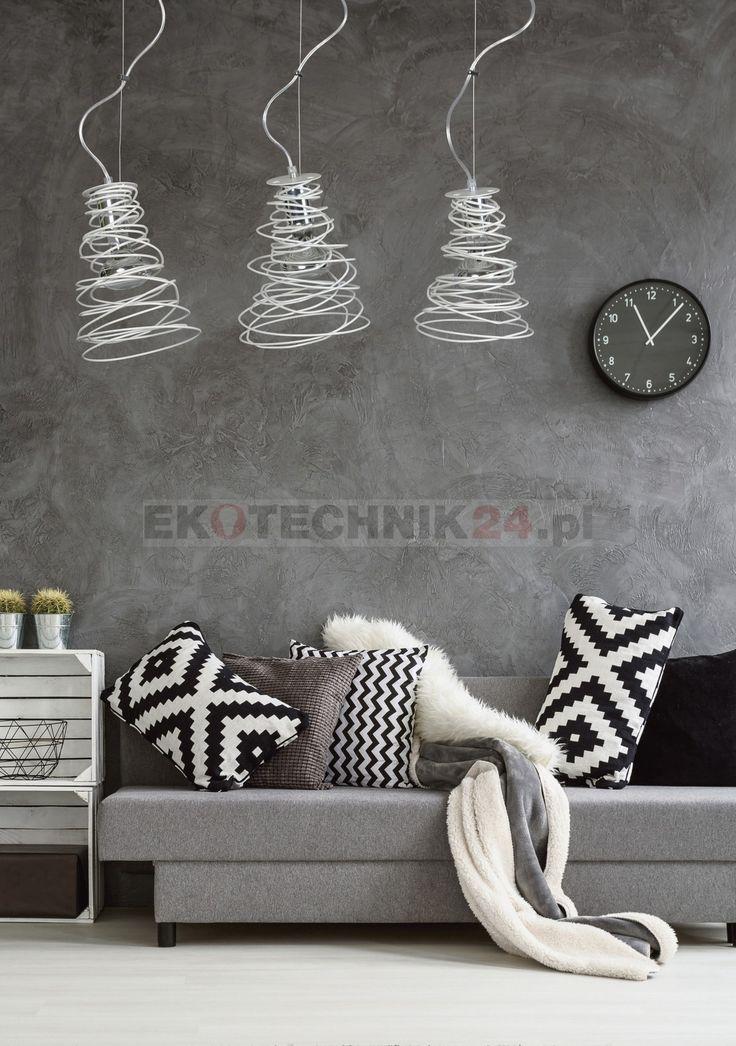 Lampa wisząca Twist III biała Emibig #home #decor