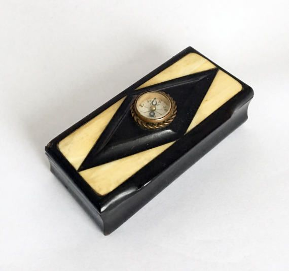 19th Century French Compass Snuff Tobacco by TheCompassCollector