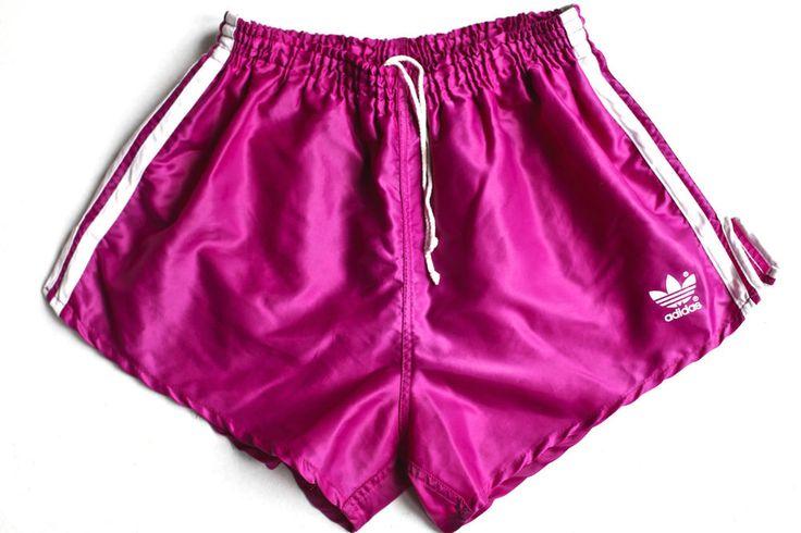 Vintage Adidas Nylon Sport Shorts.D5 (medium) Unique Colour of Pink/ White glanz