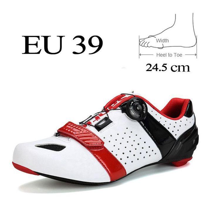 SANTIC Mens Road Bike Shoes 2 Colors Carbon Fiber Cycling Shoes Self-Locking Triathlon Athletic Bicycle Shoe Zapatillas Ciclismo