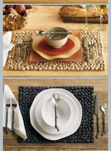 Tischuntersetzer aus Steinen