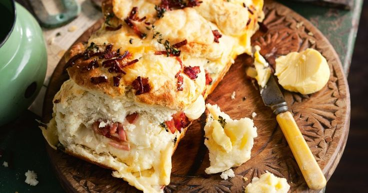 Give bush bread a modern makeover with bacon, herbs and Italian cheeses.