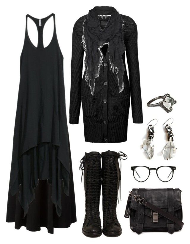 """""""Wood witch wardrobe #5"""" by n-nyx ❤ liked on Polyvore featuring Tory Burch, H&M, Gestuz, Proenza Schouler, AllSaints, Unearthen and Spitfire"""