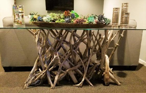 Driftwood Sofa Console Table Base Driftwood Table Driftwood Etsy Driftwood Table Console Table Base Driftwood Decor