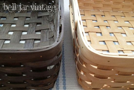 DIY wood stain, vinegar and steel wool... So pretty and non toxic!