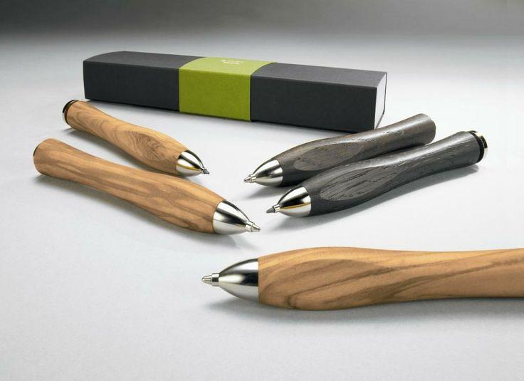 Porte mine et stylos en bois issus de forêts éco-responsables