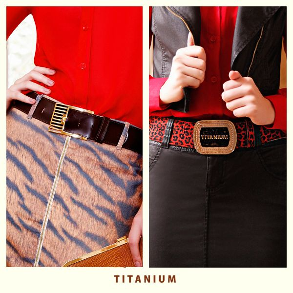 Os cintos da coleção de outono/inverno da Titanium estão incríveis, qual desses você prefere?