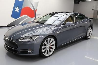 2014 Tesla Model S 2014 TESLA MODEL S P85+ TECH PANO SUNROOF NAV 21'S 30K #P28211 Texas Direct Auto
