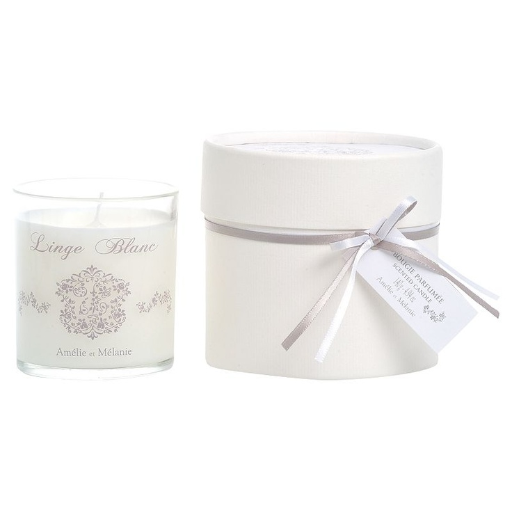 No place like home: Gift-List classics and luxuries for home-lovers. Amelie et Melanie white linen scented candle. #johnlewis #home Registering your list is free and easy - simply call or visit your local shop, or go online: www.johnlewisgiftlist.com