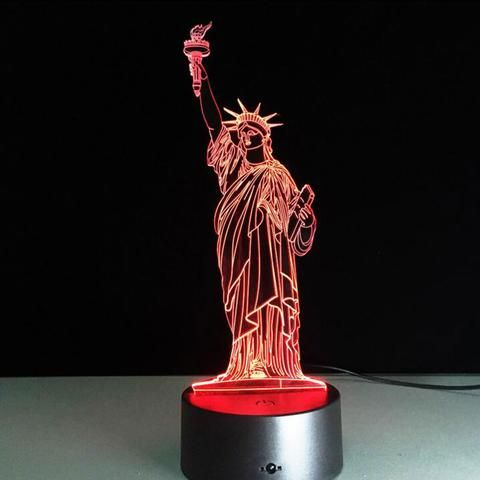 Statue of Liberty  3D illusion night light