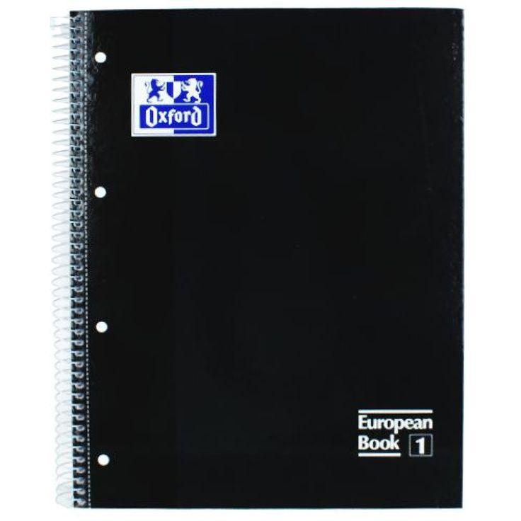 Caderno Profissional Oxford  European Book 1 A4 080 Fls Preto 70046817