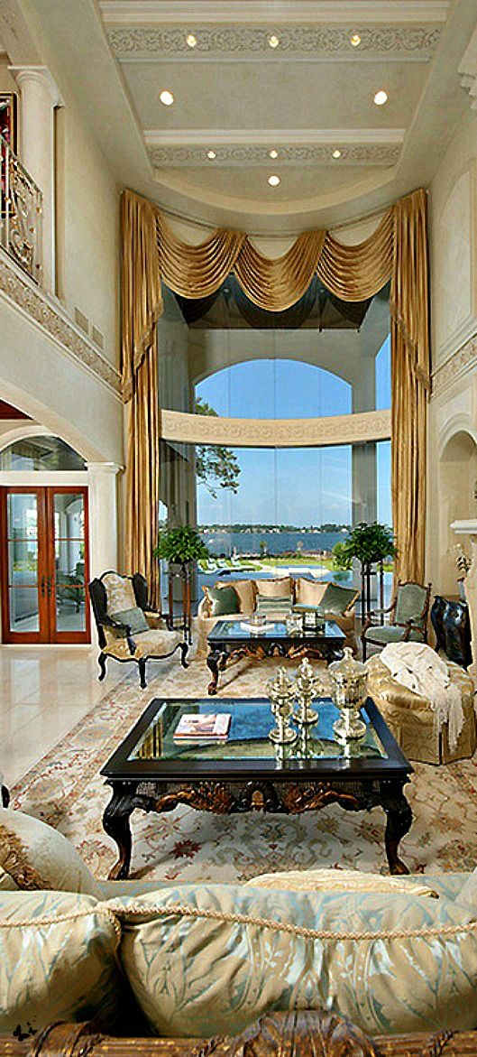 Wealth And Luxury Grand Mansions Castles Dream Homes Living RoomsHome