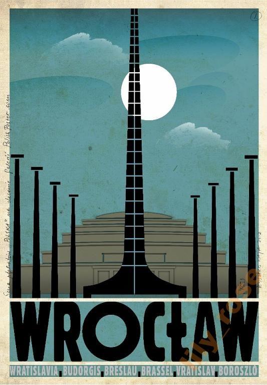 Wrocław Plakat Art Deco Hala Stulecia ludowa, Kaja (5068930233) - Allegro.pl - Więcej niż aukcje.