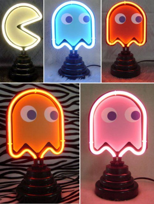 Neon Pac-Man lights -  I want GIMME!