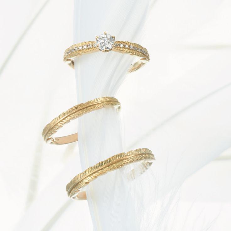 feather #NOVARESE #NOVARESE Prima #Prima #wedding #accessory #ring #pair #original #engagement #marraige #ノバレーゼ #ノバレーゼプリマ #結婚指輪 #婚約指輪 #指輪 #フェザー #羽根