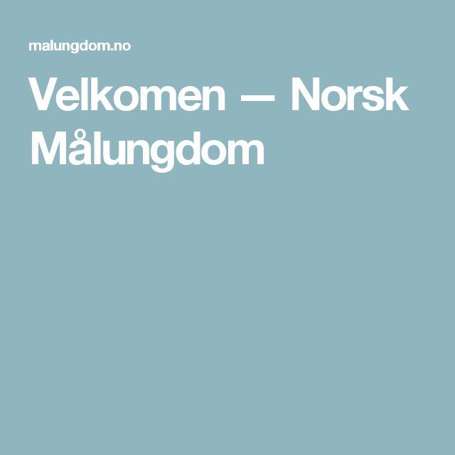 Velkomen — Norsk Målungdom