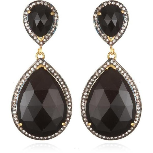 Black Onyx Double Drop Earring - Artisan Design Gallery ($450) via Polyvore