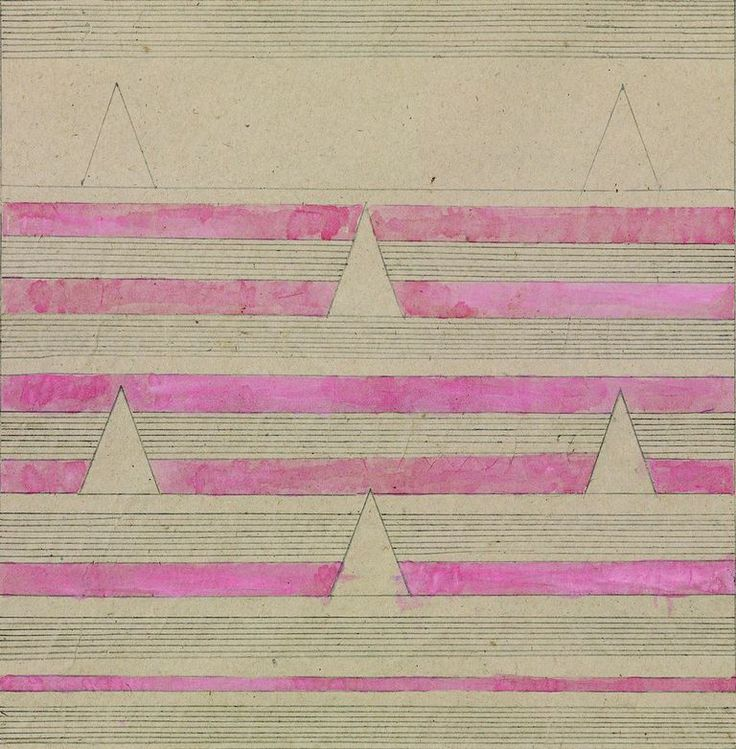 Anges Martin, Wedding Cake.  Drawings exploring pattern, grids and repetition