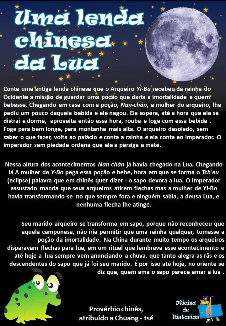 Em homenagem o dia da lua (calendário chinês) uma lenda bela lenda!