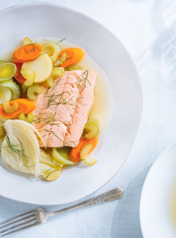 Recette de poisson et légumes au court-bouillon