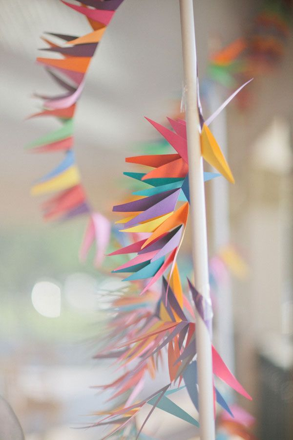 geometric rainbow garland