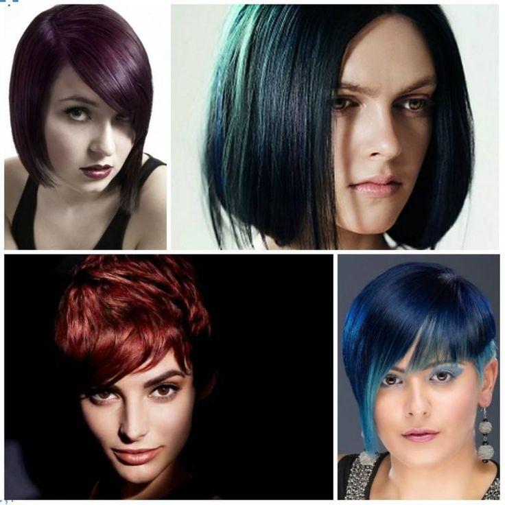 2017 Dunkle Funky Haarfarben mit Edgy Frisuren