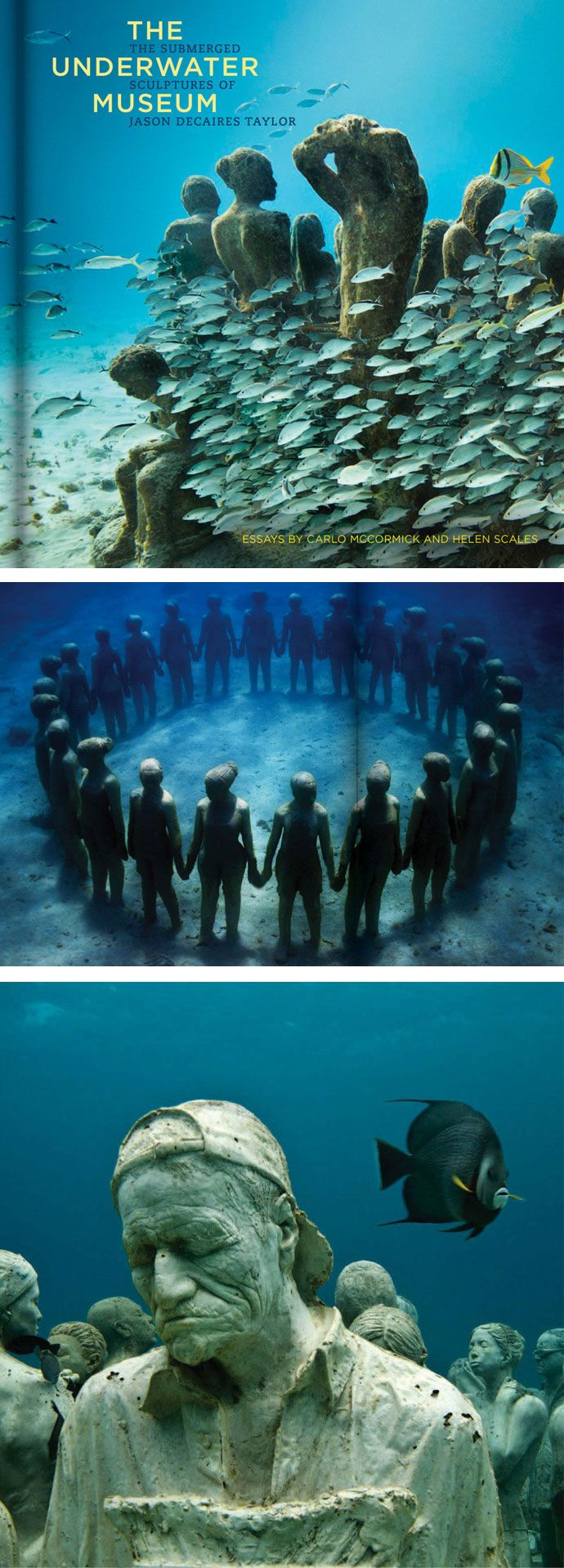 A one-of-a-kind blend of art, nature, and conservation, The Underwater Museum re-creates an awe-inspiring dive into the dazzling under-ocean sculpture parks of artist Jason deCaires Taylor. Ocean enthusiasts, divers, art lovers, and anyone entranced by the natural world will be instantly engrossed by this pearl of a book. #colossal