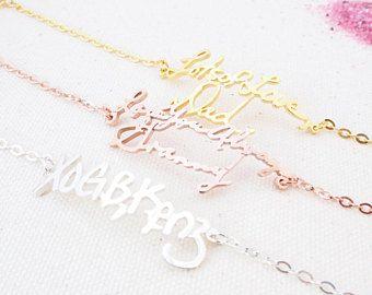 30% OFF ** Custom Actual Handwriting Bracelet - Personalized Memorial Signature Bracelet - Memorial Signature Bracelet - Keepsake Jewelry