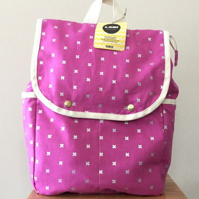 Lori Barcelona Pink and Silver backpack - large