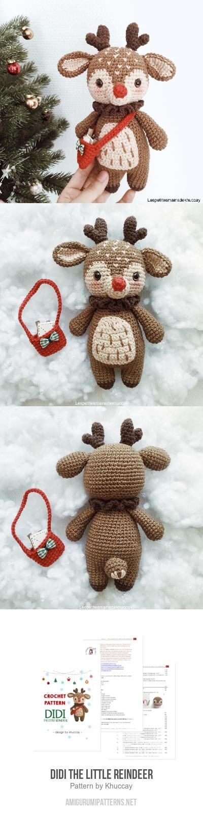 Didi the little reindeer amigurumi pattern