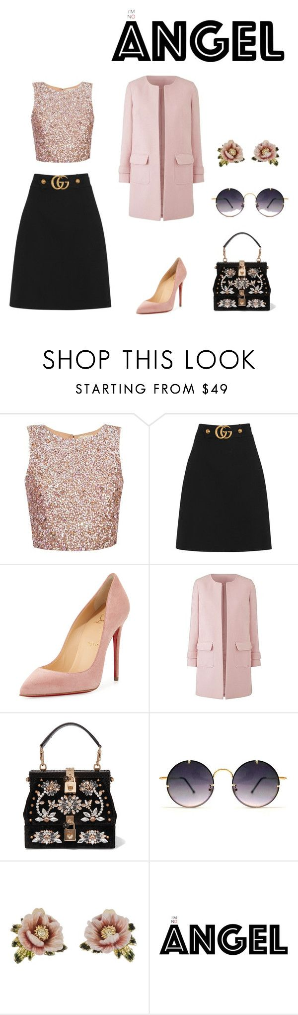 """""""Darice."""" by natt07 ❤ liked on Polyvore featuring Gucci, Christian Louboutin, Dolce&Gabbana, Spitfire and Les Néréides"""