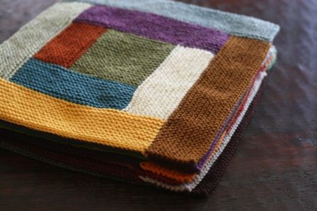 pretty blocks...thinking this could be done by knitting center square and pic...