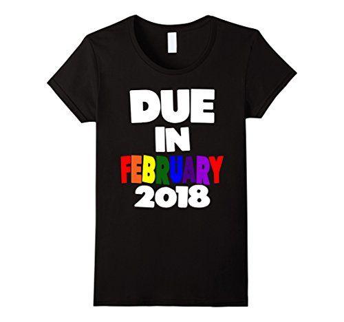 Womens Due February 2018 Pregnancy Announcement Rainbow P... https://www.amazon.com/dp/B075FP2YVK/ref=cm_sw_r_pi_dp_x_LhcTzbFXFKGWA #PregnancyAnnouncement  #preggo #pregnant #newbaby #preggers #genderreveal #sexreveal #dueinFEBRUARY #rainbowbaby