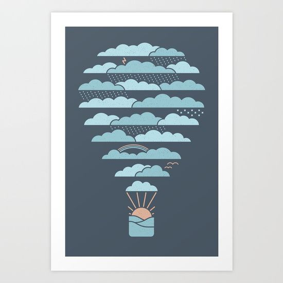 Weather Balloon Art Print by Rick Crane | Society6