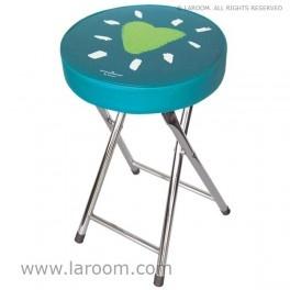 """Laroom - Taburete plegable verde """"mirar"""" - Laroom diseña los productos para Baño más bonitos del mundo - www.laroom.com (producto diseñado y fabricado por Laroom con ilustración de anna llenas)"""