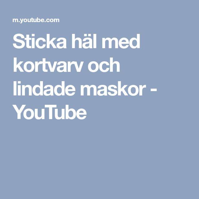 Sticka häl med kortvarv och lindade maskor - YouTube