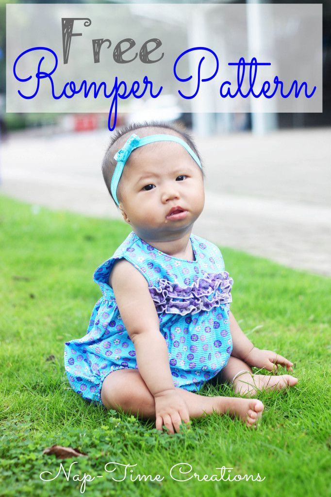 Baby rompers are the cutest! This one is a free sewing pattern  / tutorial. More free baby stuff to sew at: http://www.sewinlove.com.au/category/kids/