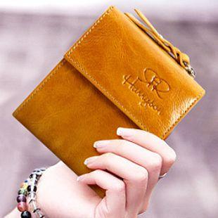 2013 vintage wallet women 100% genuine leather cowhide pocketbook short purses multi card wallets Retro purse fashion Clutch Bag $31.62